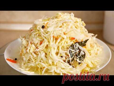 Рецепт хрустящей КАПУСТЫ без заморочек. Квашеная капуста, цыганка готовит.