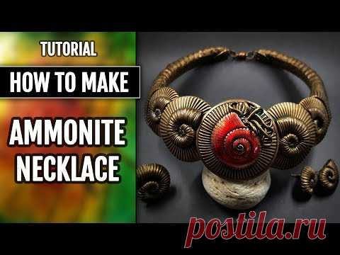 Part1! NEW TUTO! How to Make Faux Ammonite Necklace, Earrings and Ring!