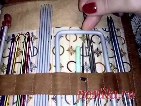 Папка-органайзер для вязальных инструментов (спиц и крючков )№1