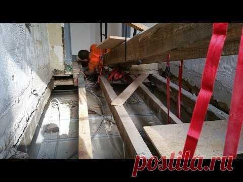 Strengthening of a beam of interfloor overlapping, Lisbon (Portugal) Brigada1.lv