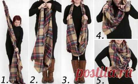 Как красиво и стильно носить шарф этой зимой   Красота   Яндекс Дзен