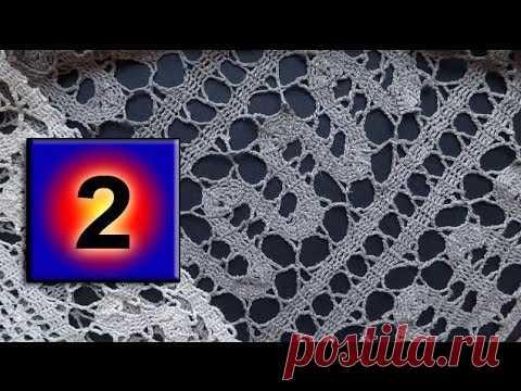 2- Bruges lace crochet Мастер класс Брюггское кружево вязание крючком урок — видео NofolloW.Ru