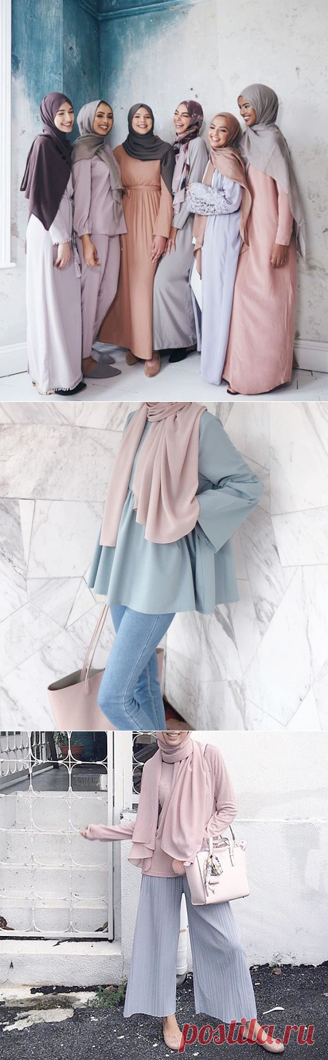 Trend Color: Pastel Hijab Outfit Ideas - Hijab-style.com