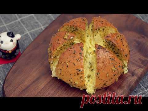 Рецепт Чесночного Хлеба со Сливочным Сыром [Корейская Уличная Еда]