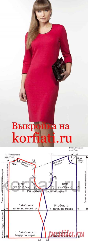 прямое платье фото без вытачек выкройка огромную благодарность вячеславу