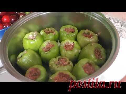 ФАРШИРОВАННЫЕ ПЕРЦЫ - легко и вкусно / болгарский перец с фаршем / ИЗМИР ТУРЦИЯ