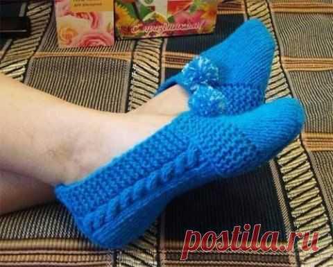 Милые тапочки-носочки из категории Интересные идеи – Вязаные идеи, идеи для вязания