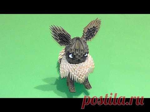 Модульное оригами Покемон Иви мк