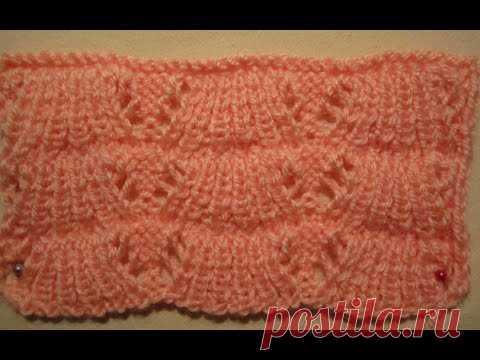 УЗОР КИТАЙСКИЙ АЖУР! ВЯЗАНИЕ СПИЦАМИ! Вязание для начинающих.Knitting pattern.