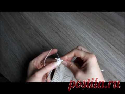 """Перемещённые петли спицами на примере вязания фрагмента узора """"Рельефные листья""""."""