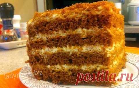 Торт Медовик в мультиварке - рецепт приготовления