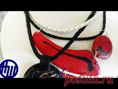 66e98cefe445 Как сплести круглый жгут из кожи. How to weave a round harness. Master class