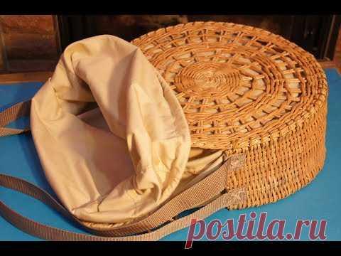 """Шьем подкладку для круглой плетёной сумки """"Весеннее солнце"""""""