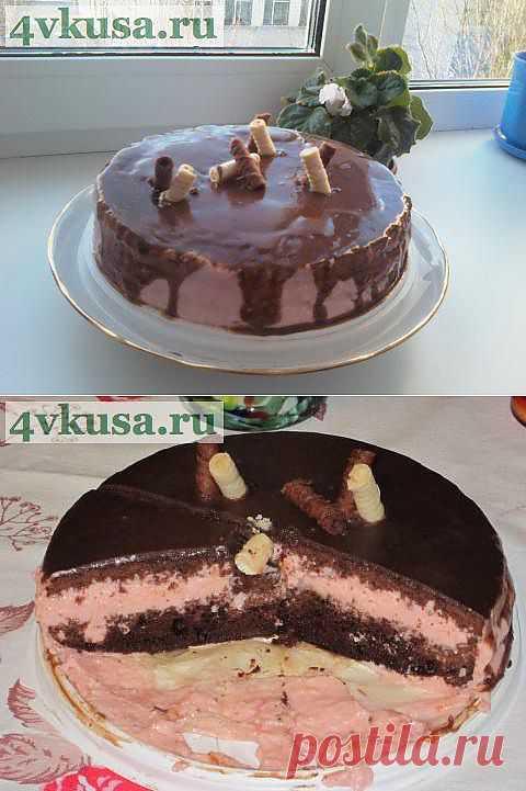 Шоколадно-зефирный тортик | 4vkusa.ru