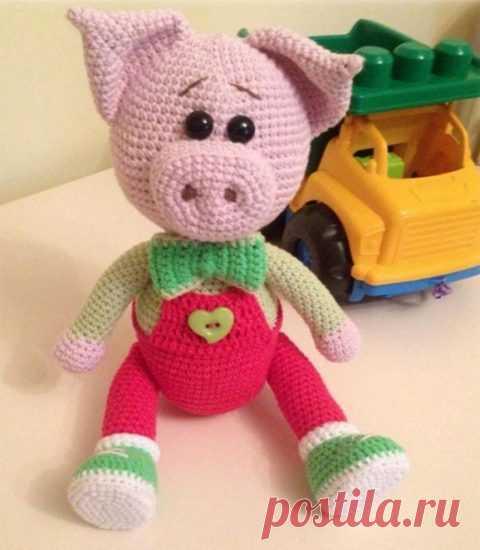 Вязаные крючком хрюшки, свинки, поросята, подборка из 33 игрушек