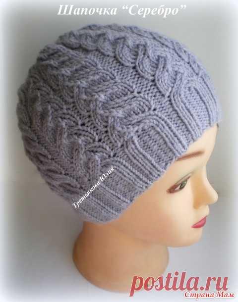 схема вязания женской шапки спицами вязание постила