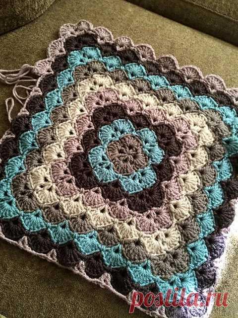 Равелри: красивые раковины одеяло шаблон по Lahoma Jayne наконец