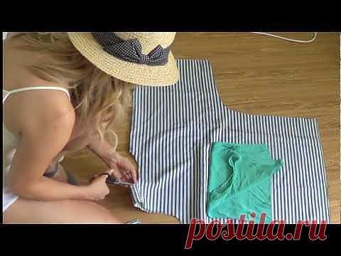 DIY Топ из пашмины + 2 (видео) / Простые выкройки / Модный сайт о стильной переделке одежды и интерьера