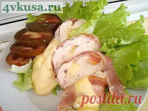 Куриные рулетики с сыром | 4vkusa.ru