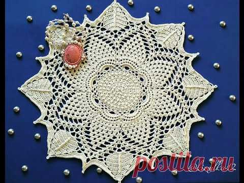 La servilleta la flor Estelar 1-5 series Beautiful Crochet doily rounds 1-5