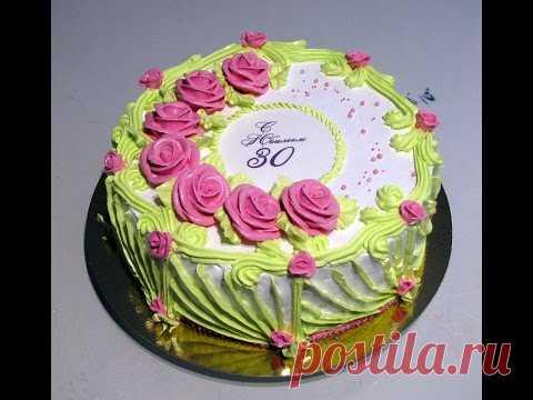 One more idea of registration of a cake BZK cream