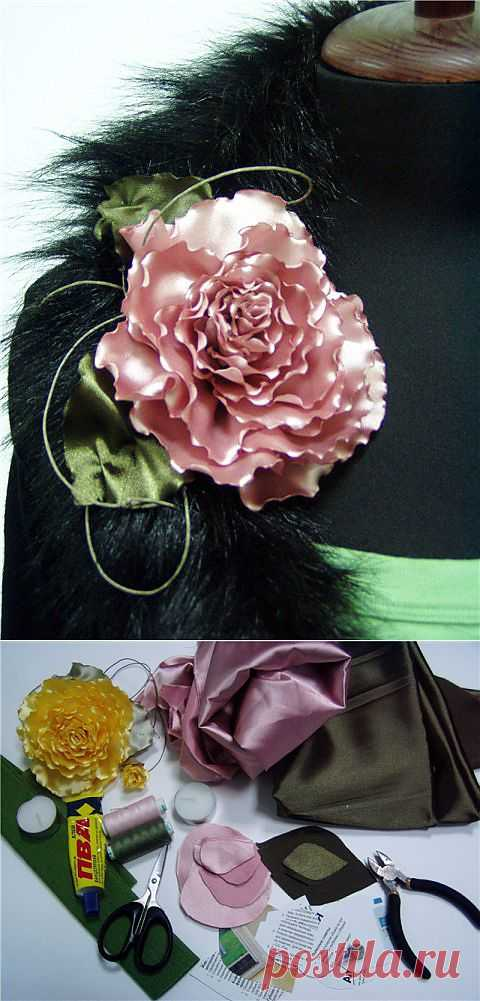 Роза на одежду | РУКОДЕЛИЕ