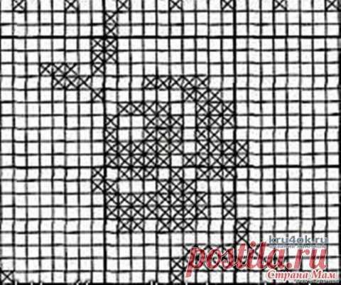 Туника пэчворк Летний калейдоскоп (филейное вязание). Работа Ирины Светличной