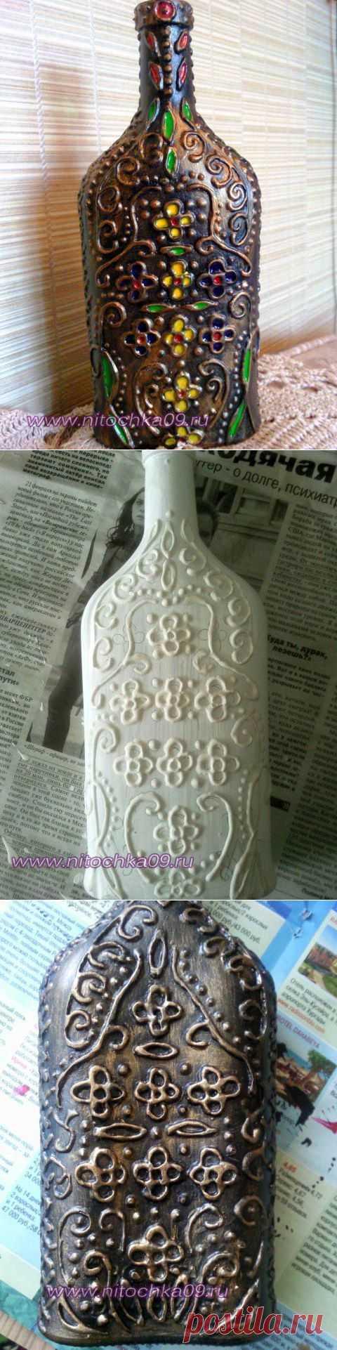Бутылка. Имитация ковки и финифти | Золотые Руки