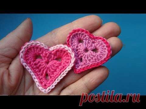 Como tejer Valentinku Crochet heart la Lección 327