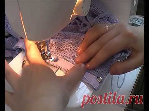 ▶ Вшивание молнии на швейной машине. http://vyzanie.com/i - YouTube