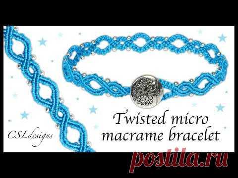Twisted micro macrame bracelet