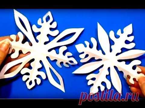 Просто-Быстро Сделать Снежинки. Новогодние Снежинки Украшения Своими Руками Из Бумаги Поделки