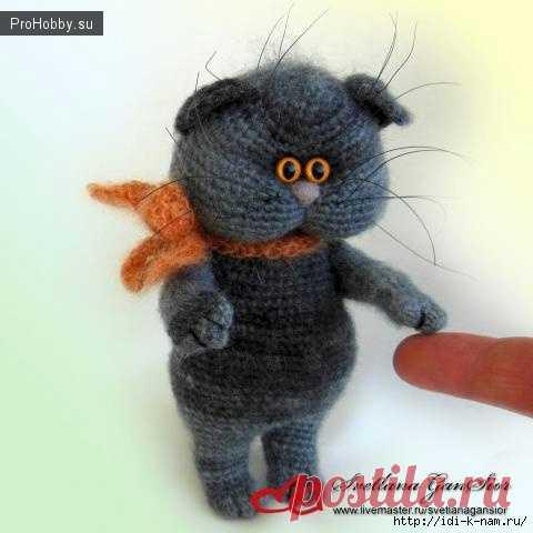 вязаный крючком кот кузя вязание спицами и крючком Prohobbysu