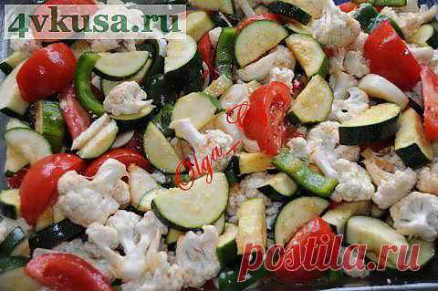 Овощной микс из духовки   4vkusa.ru