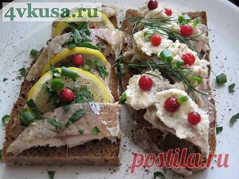 Бутерброд с макрелью (скумбрией).   4vkusa.ru