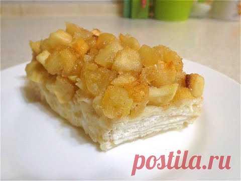 Яблочно-творожный десерт в лаваше. Просто и вкусно!