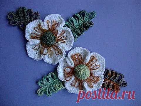 Как вязать цветок Вязание крючком Урок 24 Crochet flower pattern - YouTube