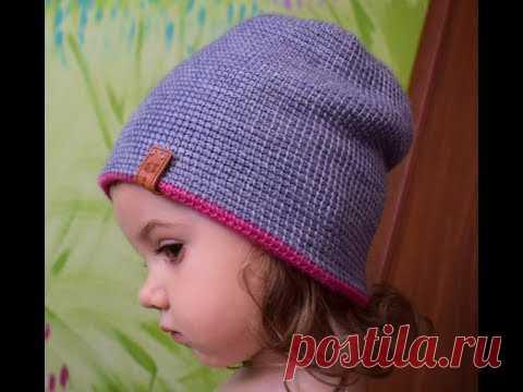 ТУНИССКОЕ ВЯЗАНИЕ*Двойная шапочка*МК TUNISIAN CROCHET*Double cap* | Такое разное вязание | Постила