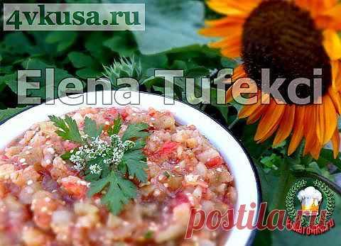 «Баклажанная икра» на мангале | 4vkusa.ru