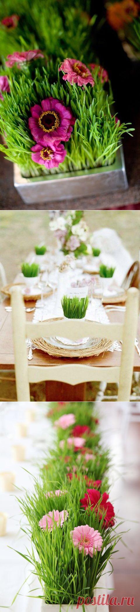 Весенняя свежесть в декоре свадьбы.