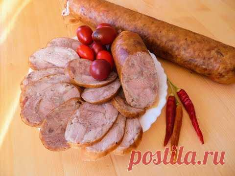 100% колбаса - никакой химии, только мясо и специи! Простой рецепт вкусной домашней колбасы