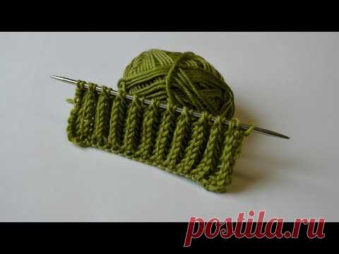 Шикарный двухсторонний узор для шарфа или снуда