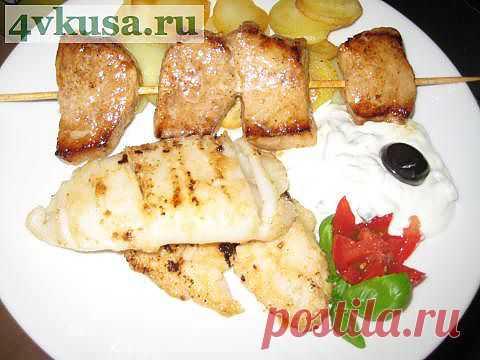 Рыба с мясом по греческим мотивам. | 4vkusa.ru