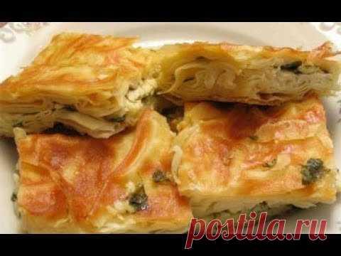 Los pastelillos tayikos hojaldrados\/\/los pastelillos Magros de cebolla