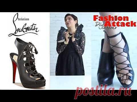 Повтор туфель Christian Louboutin (видео) / Обувь / Модный сайт о стильной переделке одежды и интерьера