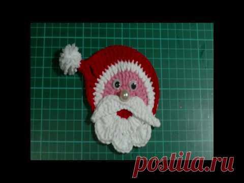 Очень простой Дед Мороз. Вязание Крючком