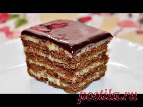 Без выпечки и заморочек! Этот тортик с нежнейшим кремом удачно украсит романтический ужин