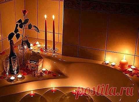 Романтическая атмосфера в ванной комнате! http://kvartira.mirtesen.ru/blog/43045615070