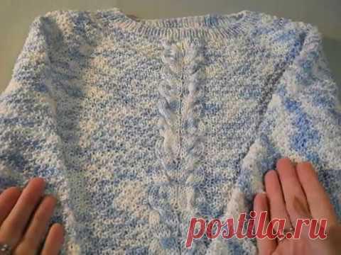 Детский пуловер из пряжи Katrin от Alpina.