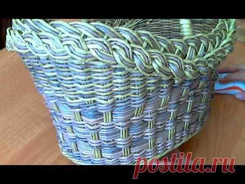 МК корзинки двумя видами плетения